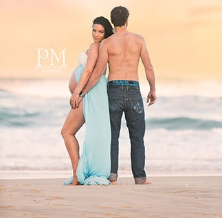 Gold Coast Beach Maternity Photography, Photographer Pregnant Memories Rikki-Lee